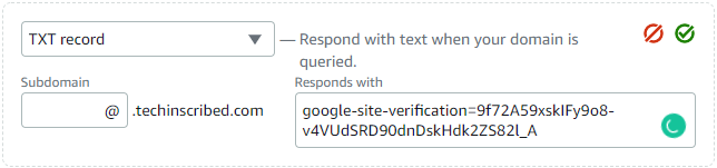 google search console dns configuration