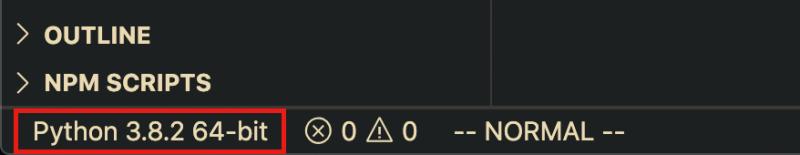 select python interpreter